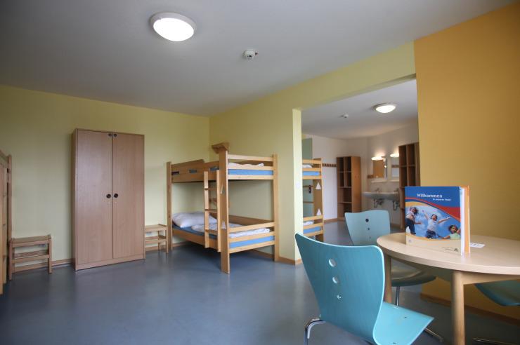 Zimmer in der Jugendherberge Westerland auf Sylt