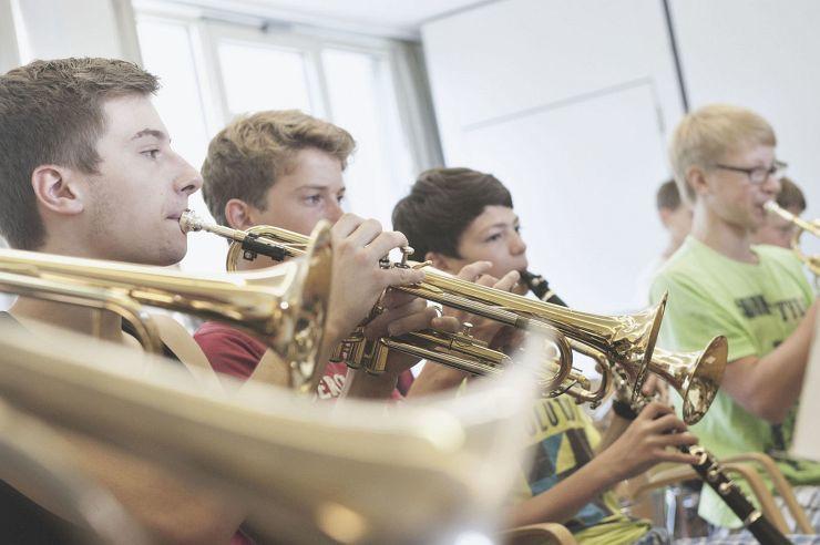 Musikprobe in der Jugendherberge Nideggen