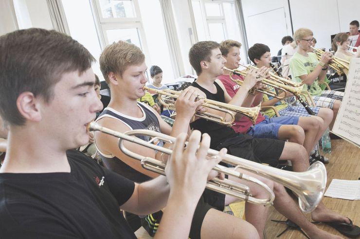 Orchester in der Jugendherberge Nideggen