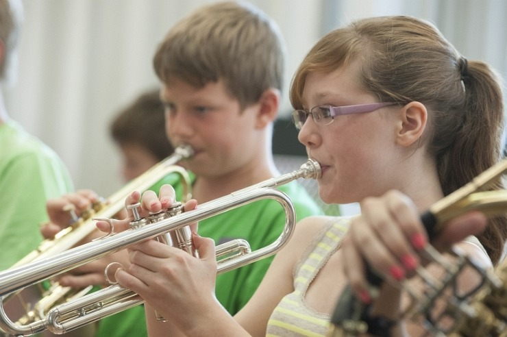 Orchesterprobe in der Jugendherberge Wiehl