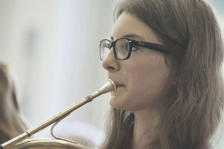 Orchesterprobe in der Jugendherberge Hellenthal