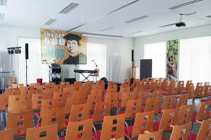 Großer Saal für Proben und Auftritte