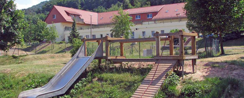Jugendherberge Kelbra mit hauseigenem Spielplatz