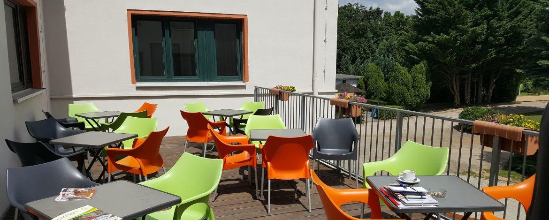 Terrasse der Jugendherberge Naumburg