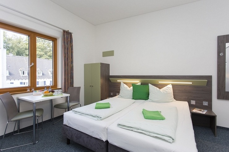 Doppelzimmer der Jugendherberge Aachen