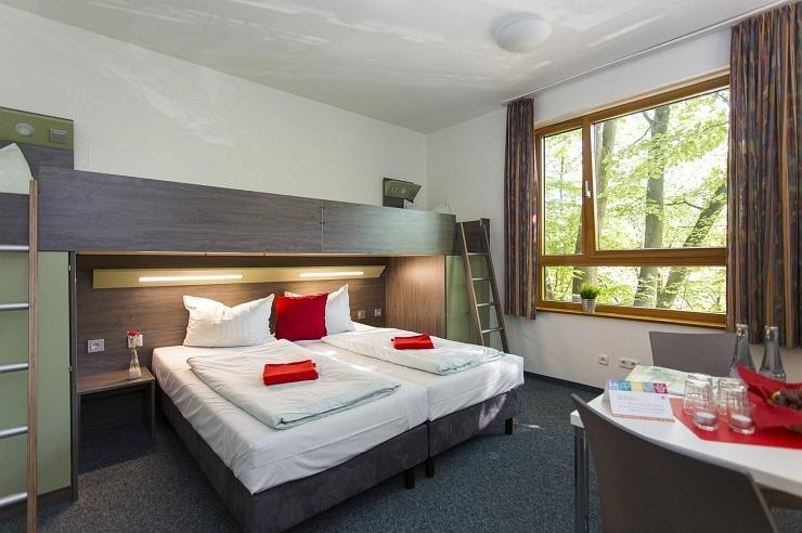Familienzimmer der Jugendherberge Aachen