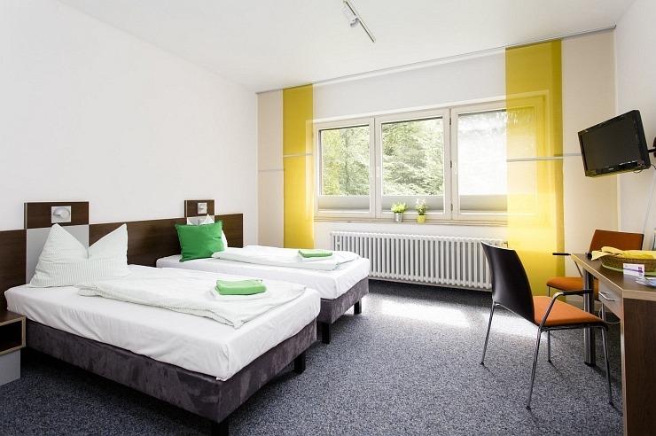 Doppelzimmer der Jugendherberge Bonn