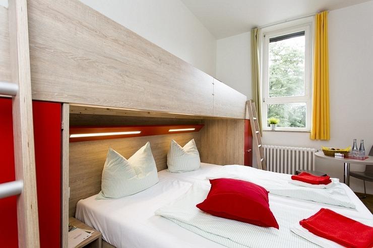Familienzimmer der Jugendherberge Bonn
