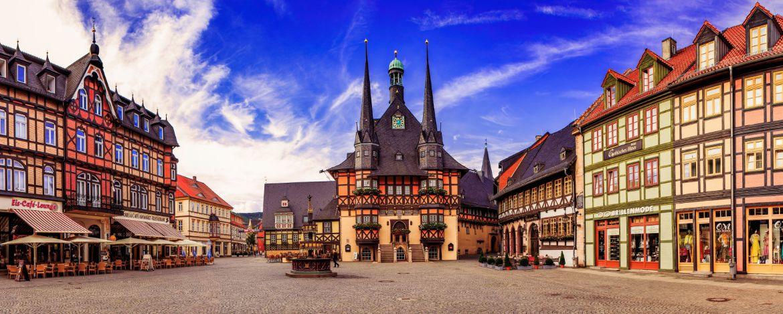 Marktplatz mit Rathaus von Wernigerode