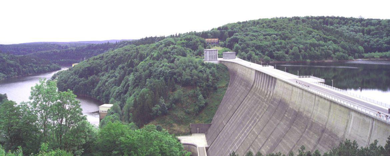 Rappbodetalsperre mit der höchsten Staumauer Deutschlands