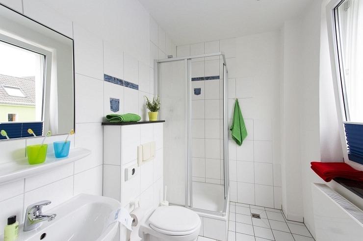 Badezimmer der Jugendherberge Bad Honnef
