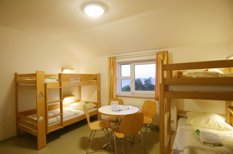 Mehrbettzimmer der Jugendherberge Dahme
