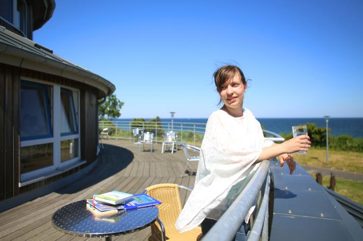 Terrasse mit Meerblick zum Meer
