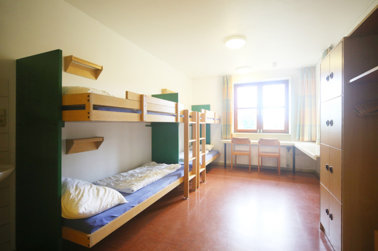Zimmer der Jugendherberge Westensee