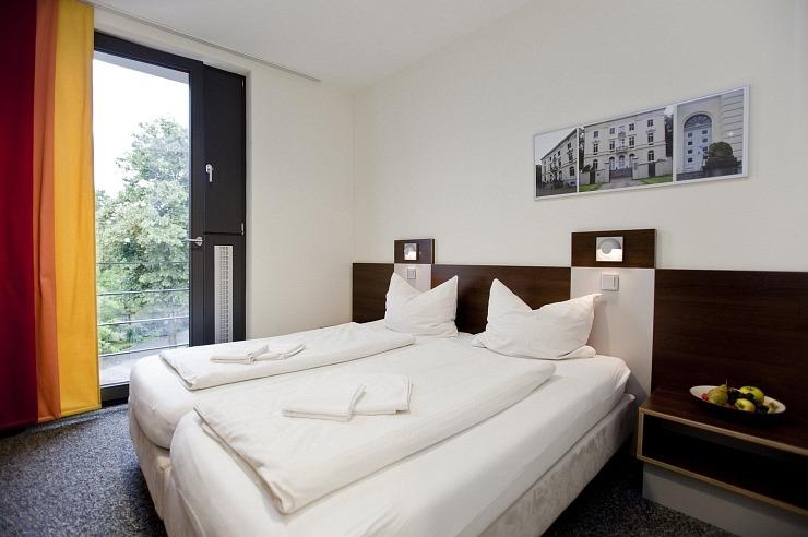 Doppelzimmer der Jugendherberge Düsseldorf