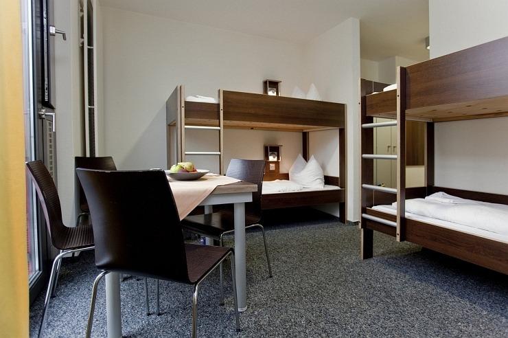 Mehrbettzimmer der Jugendherberge Düsseldorf