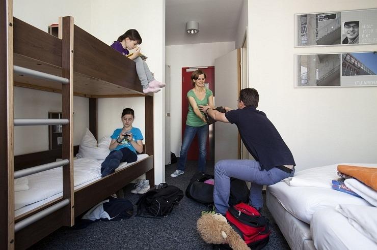 Familienzimmer der Jugendherberge Düsseldorf