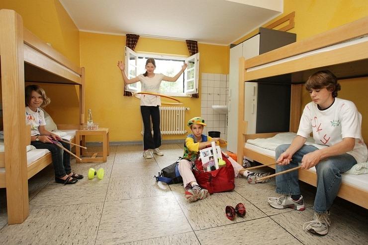 Mehrbettzimmer der Jugendherberge Hellenthal