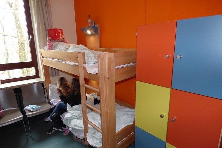 Mehrbettzimmer der Jugendherberge Lindlar