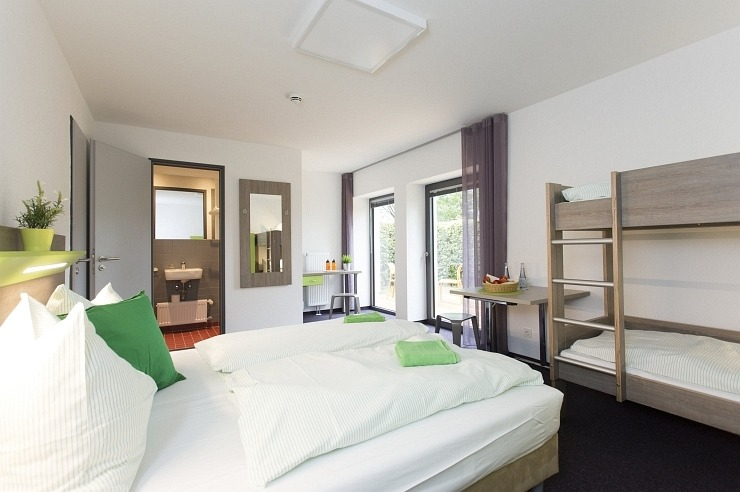 Komfortzimmer der Jugendherberge Monschau-Hargard
