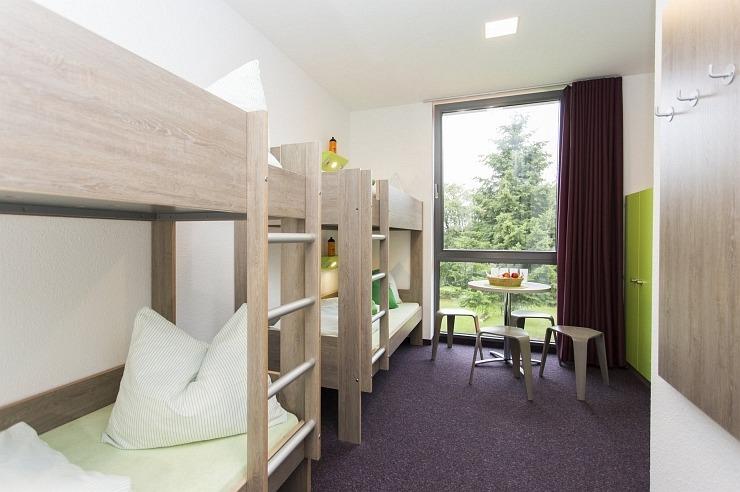 Familien-/Mehrbettzimmer der Jugendherberge Monschau-Hargard