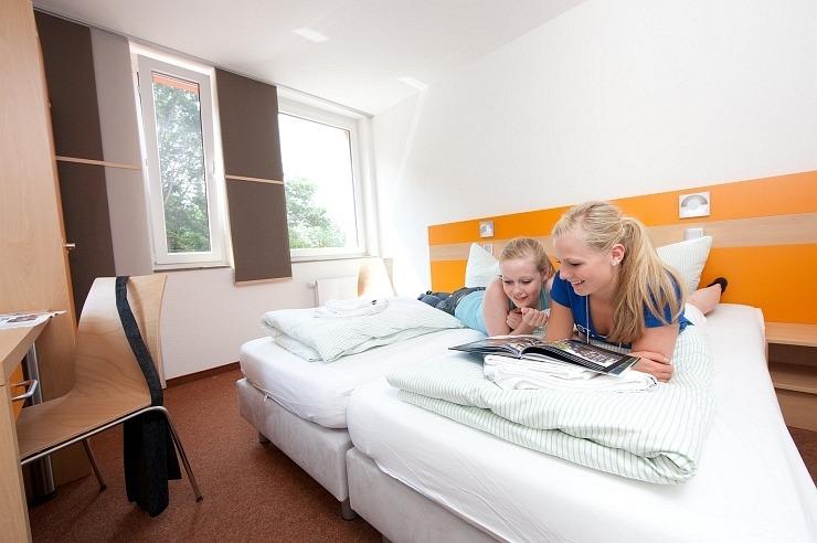 Zweibettzimmer der Jugendherberge Nideggen