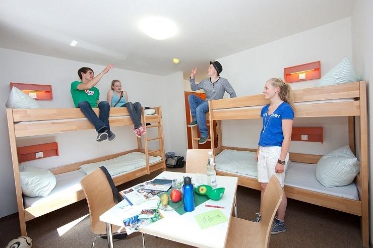 Mehrbettzimmer der Jugendherberge Nideggen