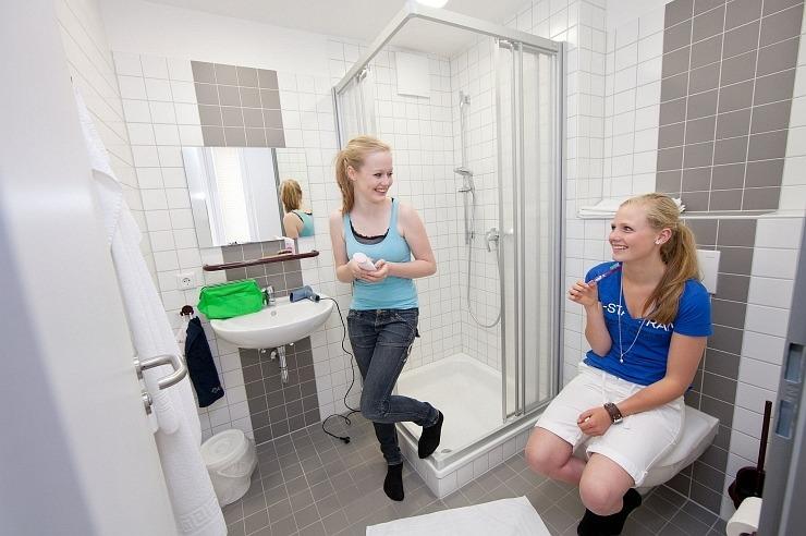 Badezimmer der Jugendherberge Nideggen