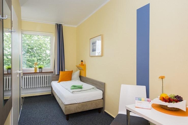 Einzelzimmer der Jugendherberge Simmerath-Rurberg
