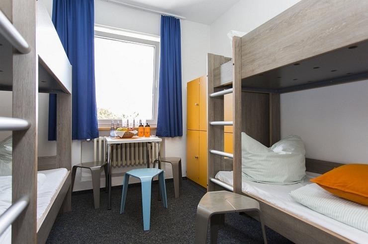 Mehrbettzimmer der Jugendherberge Simmerath-Rurberg