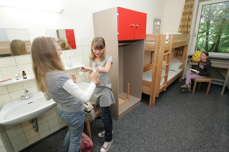Mehrbettzimmer der Jugendherberge Wuppertal