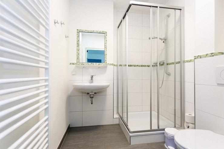 Badezimmer der Jugendherberge Kleve