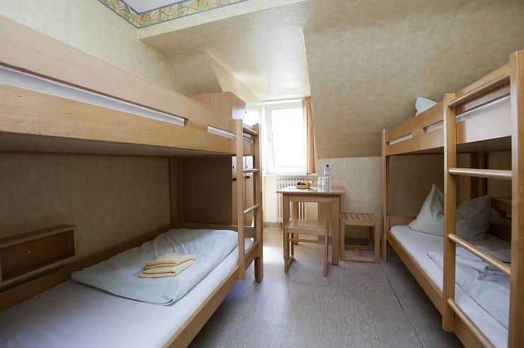 Mehrbettzimmer der Jugendherberge Kleve