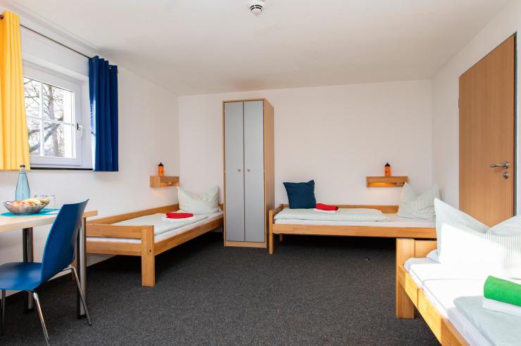 Dreibettzimmer der Jugendherberge Nettetal-Hinsbeck