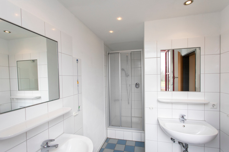 Badezimmer (Beispiel) in der Jugendherberge Nettetal-Hinsbeck