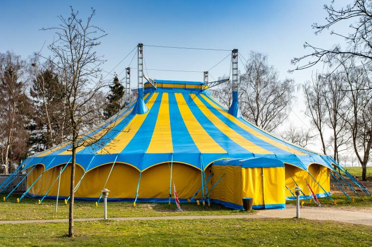 Zirkuszelt der Jugendherberge Nettetal-Hinsbeck