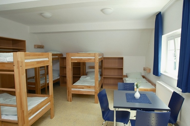 Mehrbettzimmer der Jugendherberge Radevormwald
