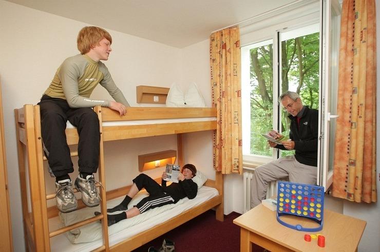 Mehrbettzimmer der Jugendherberge Essen