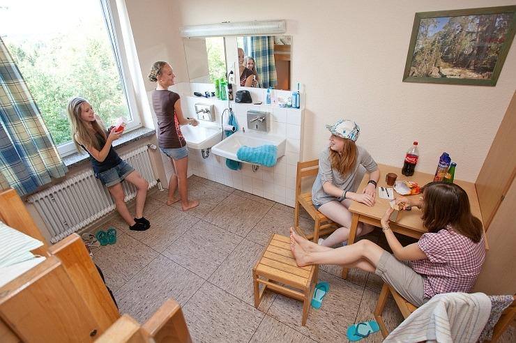 Mehrbettzimmer der Jugendherberge Windeck-Rosbach