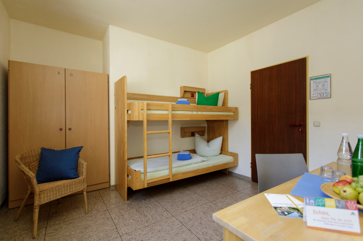 Zweibettzimmer der Jugendherberge Windeck-Rosbach