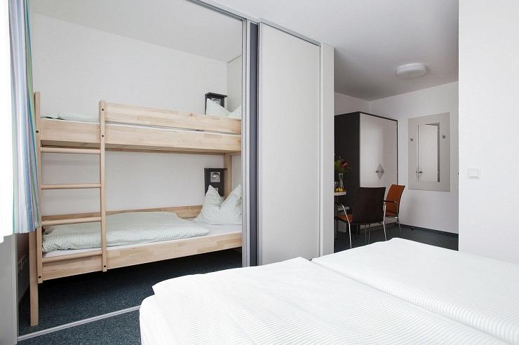 Badezimmer der Jugendherberge Köln-Deutz