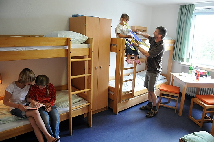 Mehrbettzimmer in der Jugendherberge Morsbach