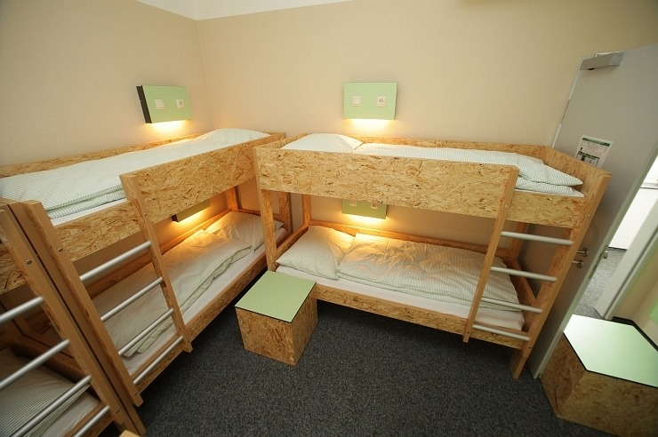 Mehrbettzimmer der Jugendherberge Pathpoint Cologne - Backpacker Hostel.