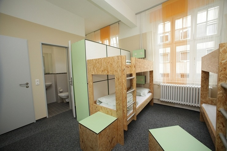 Mehrbettzimmer der Pathpoint Cologne - Backpacker Hostel.