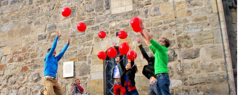 Spaß gehört zum Altstadtbummel in Halle dazu