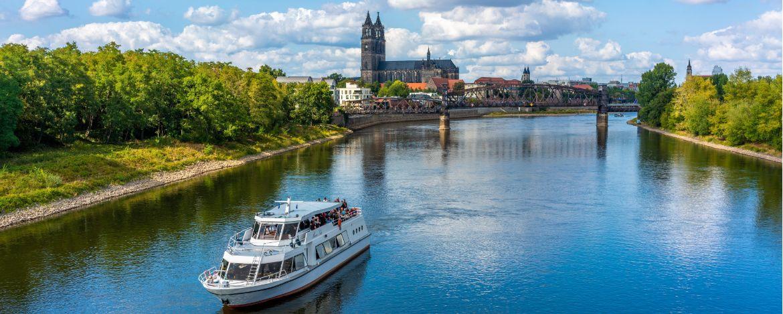 Schifffahrt auf der Elbe