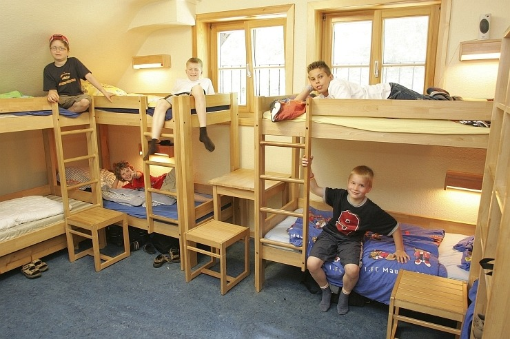 Mehrbettzimmer in der Jugendherberge Mönchengladbach