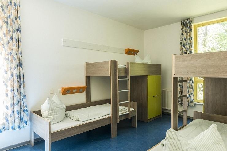 Mehrbettzimmer der Jugendherberge Ratingen