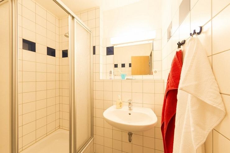 Badezimmer der Jugendherberge Ratingen