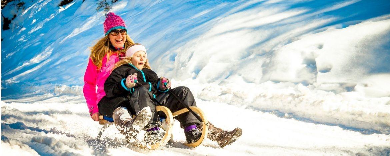 Familien Winterurlaub in den Bergen